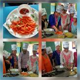 French fries & Salad by CRPS Cooking section