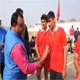 Principal Sir congratulating winners......